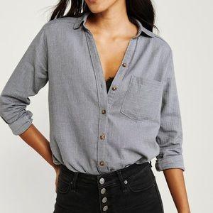 A&F Boyfriend Flannel Shirt Long Sleeve